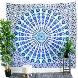 Mandala Blue Tapestry