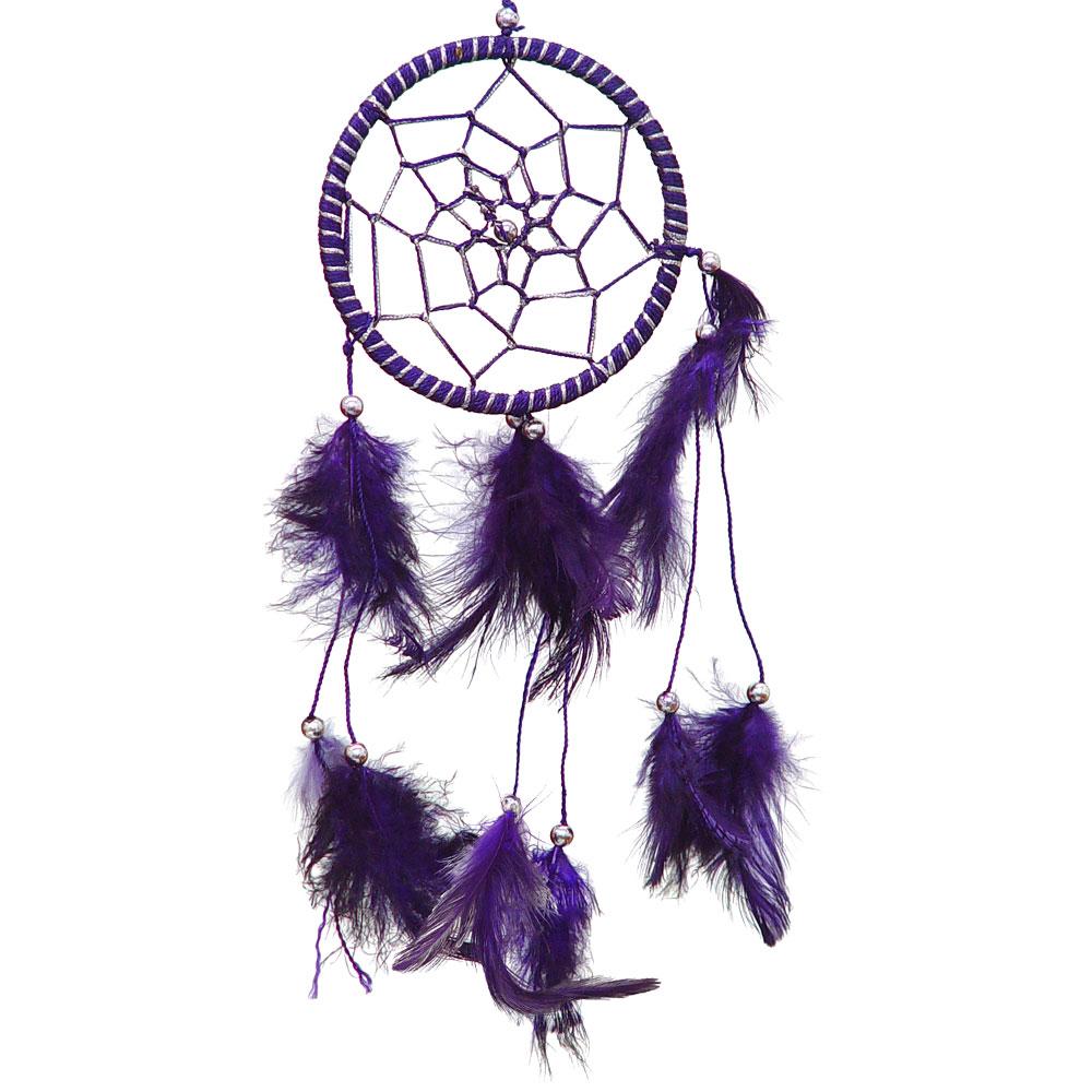Hand Threaded Purple Dreamcatcher