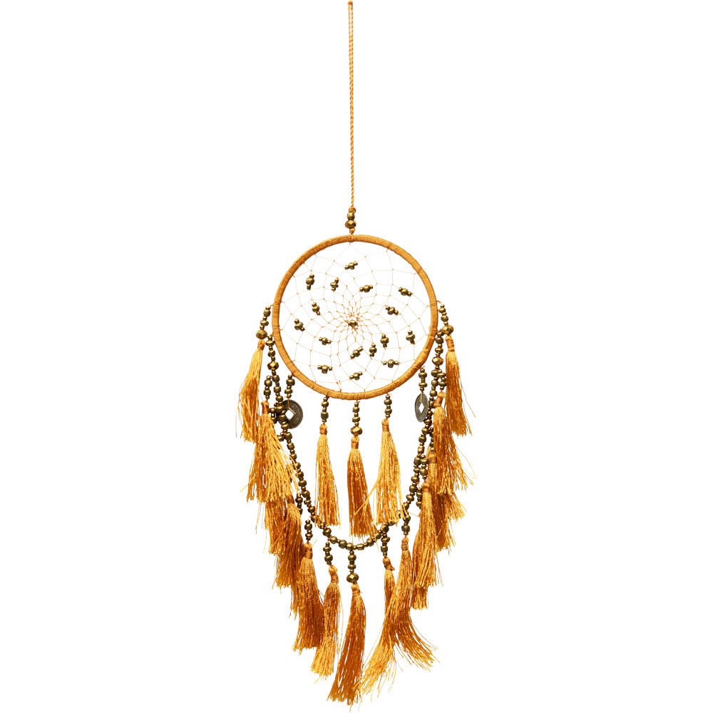 Gold Beaded and Tassel Fortune Dreamcatcher