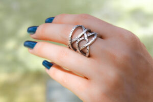Hand Hammered Silver Knotted Ring