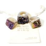 Handcrafted Druzy Amethyst Crystal Rings