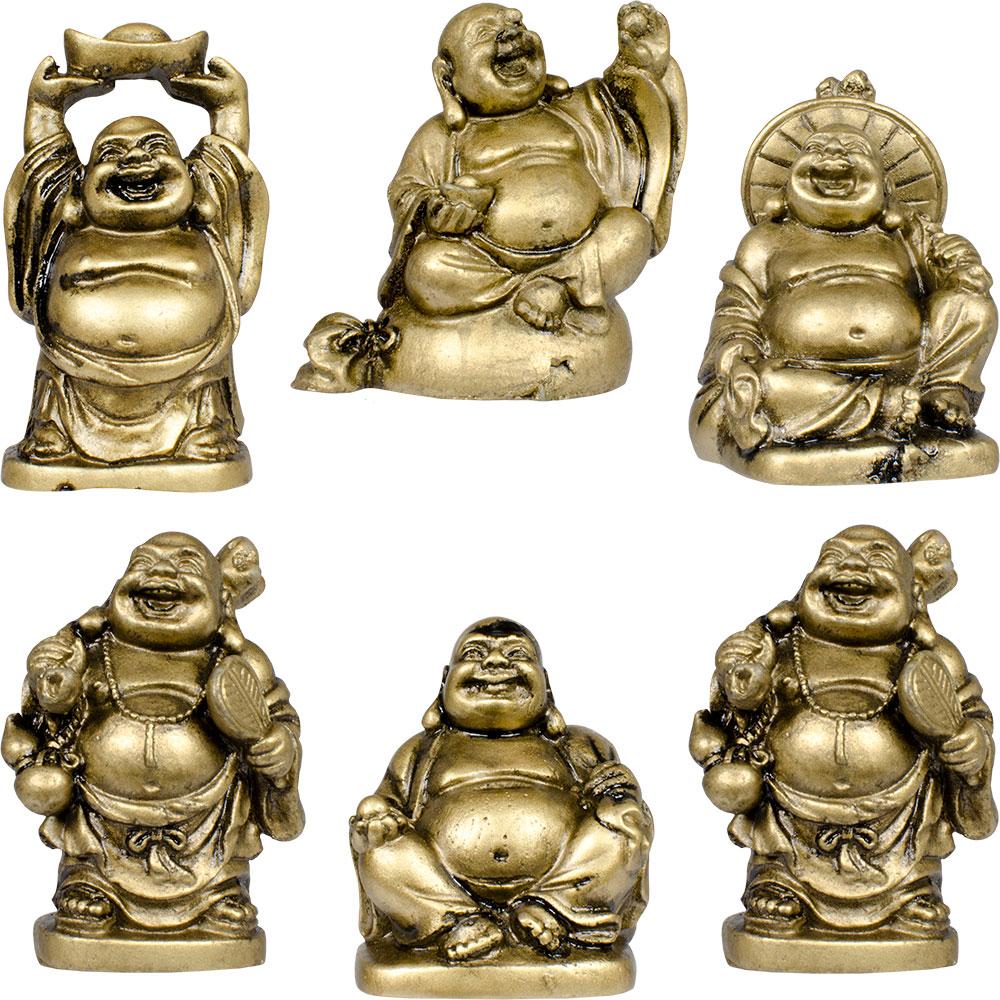 Feng Shui Gold Mini Happy Buddha