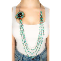 Turquoise handmade Strand Necklace